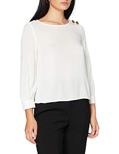 Springfield 5.Pa.Blusa Botones Ramada-C/97 Blusa, Blanco (White_Print 97), 38 (Tamaño del Fabricante: 38) para Mujer