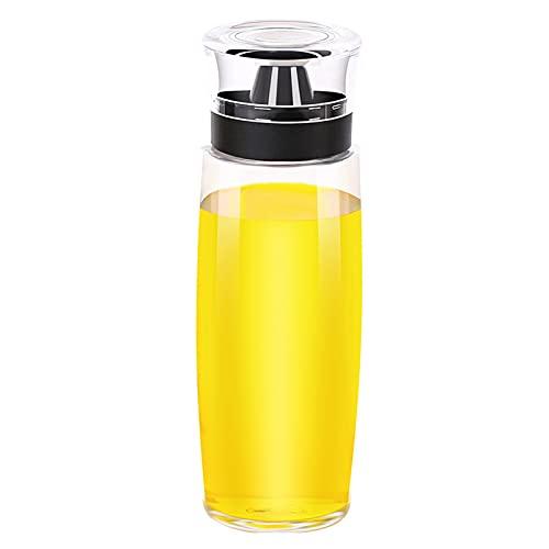 Nicoone Botella de vinagre de aceite, a prueba de fugas y desbordamiento, dispensadores de vidrio con tapa de sellado, recipiente de aceite sin goteo con mango de agarre para aceite de oliva