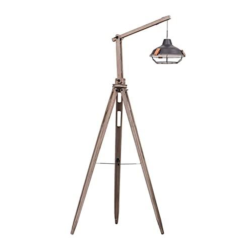HXJU Lámparas de trípode Vintage de pie, lámparas de pie Retro Ajustables en Negro-Dorado, para Sala de Estar, Dormitorio, Sala de Piano B