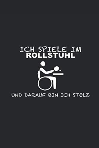 Rollstuhl Tischtennis: Punktraster Notizbuch (6x9 Zoll) mit 120 Seiten