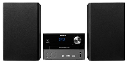 MEDION P64190 Micro Audio System, DAB+, Bluetooth, MP3, UKW/MW, CD, USB, AUX, schwarz