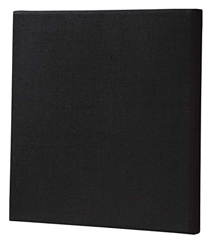 ATS Acoustic Panel 24x24x2 Inches, Beveled Edge, in Black