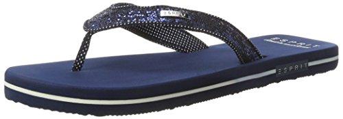 ESPRIT Damen Glitter Thongs Zehentrenner , Blau (400 Navy), 40 EU