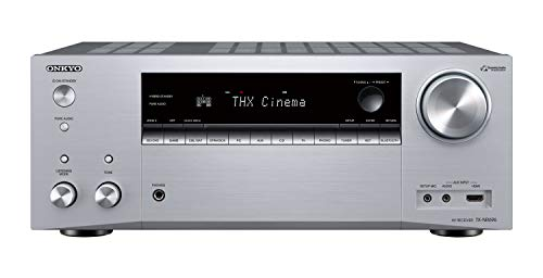 Onkyo TX-NR696(S) 7.2 Kanal AV Receiver (THX Kinoklang, Dolby/DTS:X, WLAN, Bluetooth, Streaming, Musik Apps, Spotify, Deezer, Radio, Multiroom, 175 W/Kanal) Silber