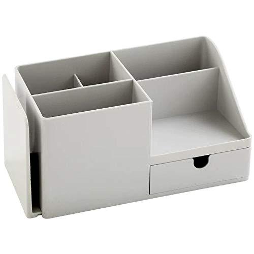 Organizador de escritorio de plástico ABS, organizador de escritorio, lápiz, bolígrafos, objetos pequeños, caja de papel de carta, oficina, material escolar, 2 unidades