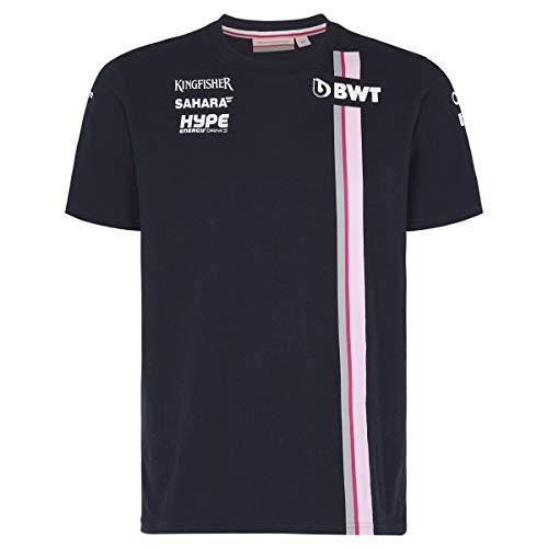 BWT Sahara Force India Herren Team T-Shirt Blau 2018, Blau, L