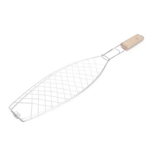 SimpleLife BBQ Fish Grilling Basket Clip Carpeta de Herramientas - Barbacoa de Acero Inoxidable Non Stick BBQ Parrilla de asado para Pescado asado Camarones Vegetales Carne Carne Mariscos