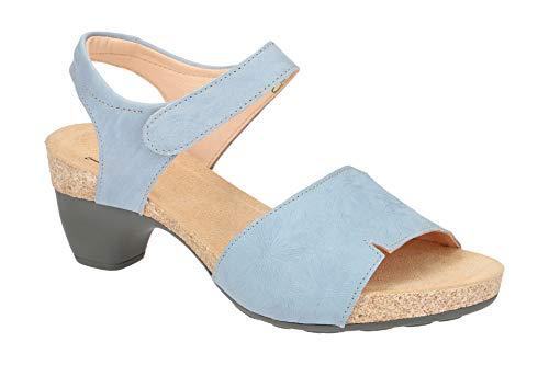 Think! Damen Sandalette - Riemchen Sandalen Traudi 4-84935-81 Blau, EU 40