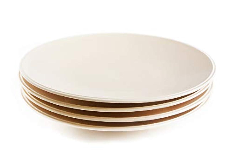 コンベンション一晩トレード4枚セット■リンドスタイメスト■VIVID CREAM ビビッドクリーム ディナープレート28cm■ カラー食器 ディナー皿 大皿 パーティ皿