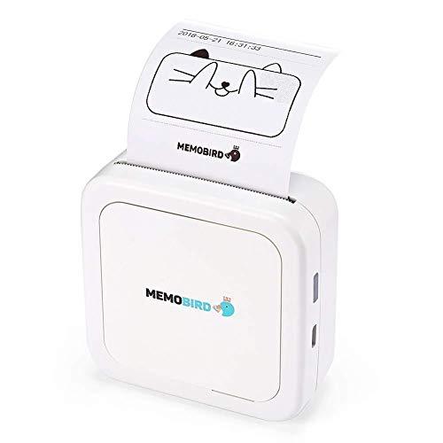 Kaimaily Impresora de Recibos Mini Impresora térmica Teléfono móvil Bluetooth Foto Impresora portátil…