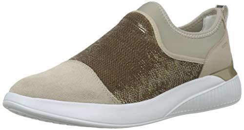 Geox Damen D Theragon a Sneaker, Beige (Lt Taupe/Gold Ch62x), 39 EU