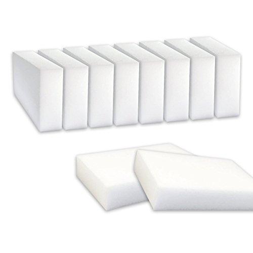 Sunbre Esponja mágica Nidebeibao® para eliminar manchas y marcas, sin productos químicos, 10 unidades