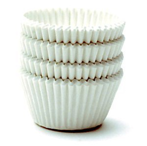 Decony White Jumbo Cupcake Muffin Baking Cup Liners size - 2 1/4' x 1 7/8' = 6'' - appx. 500 pack