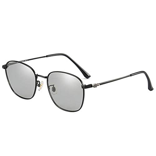 De venta libre Las gafas de sol polarizadas para hombres y mujeres disponibles día y noche pueden cambiar automáticamente el color en respuesta a los rayos ultravioleta Vasos ligeros ( Color : Black )