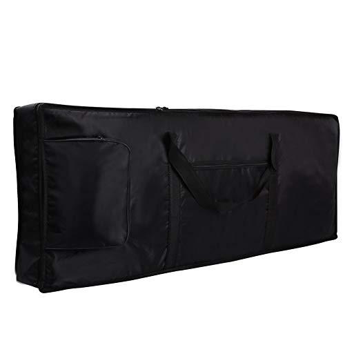 SunEast - Funda acolchada para teclado de piano (61 teclas, tela Oxford 420D, 100 x 40 x 16 cm), color negro