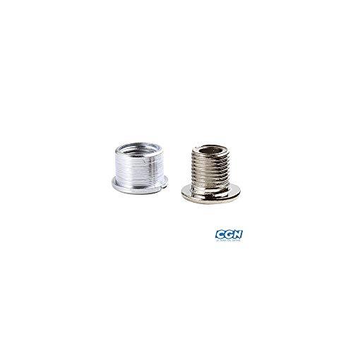 STRONGLIGHT Kettenblattschrauben SB-verpackt, Stahl verchromt, Satz à 5 Stück, mit Muttern, für 2-fach Kurbelgarnituren, sowie für das große und mittlere Kettenblatt bei 3-fach Kurbelgarnituren, Shimano kompatibel