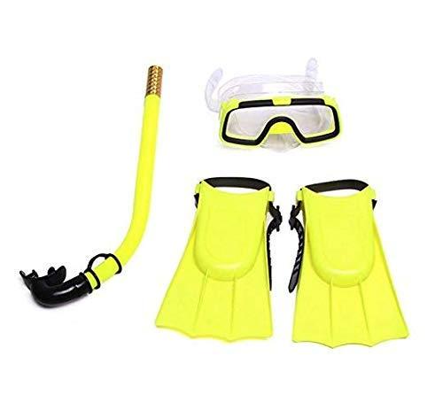 Gearmax® Set de Snorkel Mask Fin Scuba Top de Snorkel Antisalpicaduras de Buceo, Accesorios de Buceo Gafas de Buceo, Snorkel y Aletas para Niños