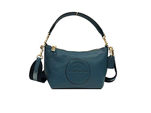 Coach Women's Dempsey Shoulder Bag In Signature Jacquard With Stripe And Patch (IM/Teal Ink)