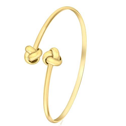 Lucardi - 375 Gold Armreif mit Knoten - für Damen - Gelb