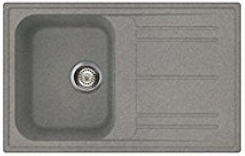 SMEG Lavello LZ791TT 1 Vasca Gocciolatoio Reversibile Dimensioni 79 x 50 cm Farbee Titanio Serie Rigae