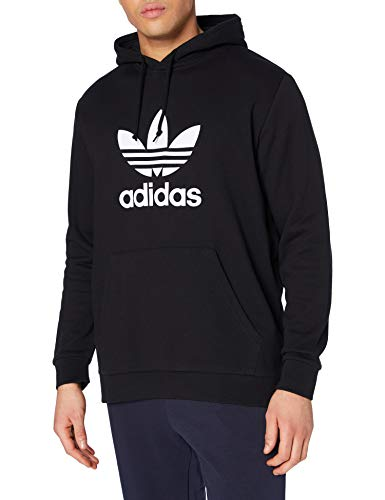 adidas Trefoil Hoodie Sweatshirt, Hombre, Black, S