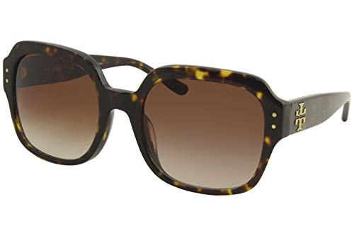 Tory Burch TY7143U Square Sunglasses 56 mm Dark Tortoise/Lite Brown/Dark Brown Gradient One Size