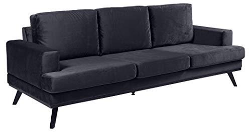 Eine Marke von Amazon - Movian Rotsee, 3-Sitzer-Sofa, 92 x 231 x 81cm (L x B x H), Dunkelblau