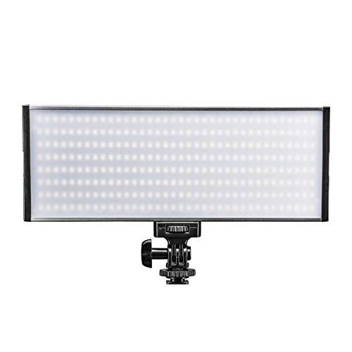 Walimex pro Walimex pro Niova 300 Bi Color – LED Videoleuchte mit 2x NP-F Akku Slots + Netzteil, dimmbar, starke 30 Watt, 3.000 Lumen