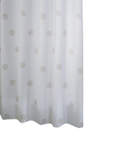 RIDDER 41427-350 Duschvorhang Textil ca. 240 x 180 cm, Univers grau inklusive Ringe