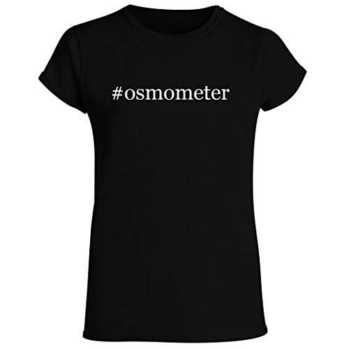#osmometer - Women's Crewneck Short Sleeve T-Shirt, Black, Small