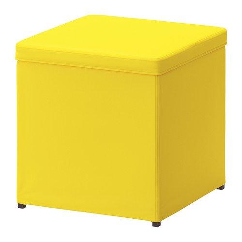 Ikea BOSNAS - Escabel con el Almacenamiento, Ransta Amarilla £ 15
