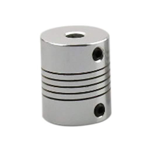 3D Drucker Zubehör Flexible Aluminiumlegierung Elastische Kupplung Spezielle Wellenkupplung 5 * 8 * 25 Mm Für Schrittmotor Draht - Silber Weiß