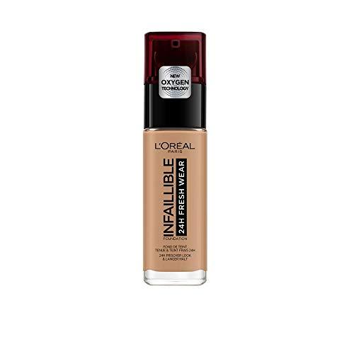 L'Oréal Paris Make-up designer Infalible 24H Fresh Wear Base de Maquillaje de Larga Duración - Tono 300 Ambre/Amber, 30 ml