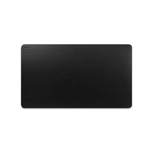 Nekmit Leather Desk Blotter Pad 24 x14 Inches, Waterproof, Non-Slip, Black