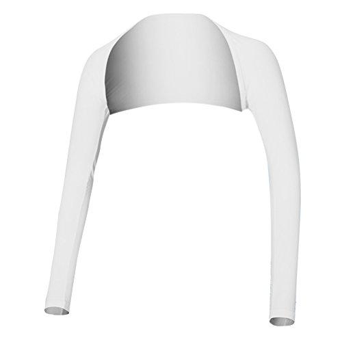 VORCOOL Frauen Schal Arm Cooling Handschuhe Golf Sleeves Ice Silk Sonnencreme Ärmel UV Schutz Kleidung - Größe L (Weiß)