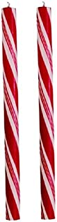 Biedermann & Sons Candy Cane Tapers, Pair