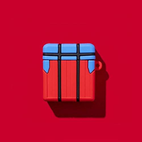 NETT Leggerezza Airpods Caso, Copertura della Cassa Fun Airdrop Scatola Airpods, Coperchio di Protezione Antipolvere Airpods Morbido Silicone for Apple Airpods 1 & 2 / Airpods PRO Regalo