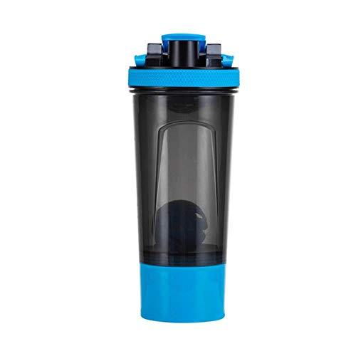650 ml wei-eiwit poeder shaker flessen sport bidon 3 combinatie draagbare lekvrije sport gym fitness shaker cups nieuw, blauw