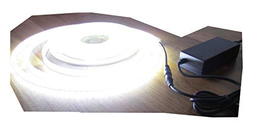 SET: HIGH POWER LED Streifen Stripe Strip 600LED 5m weiss kaltweiß inkl. Netzteil (Pro-Serie) 24V 60Watt von AS-S