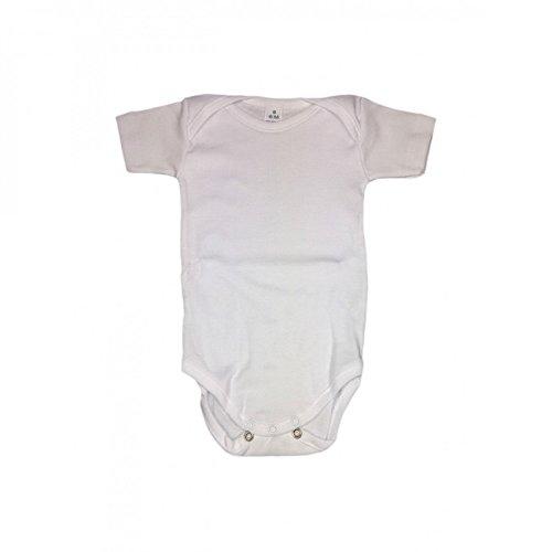 RAPIFE Body para bebés Manga Corta Blanco Marca (6 Meses, Blanco)