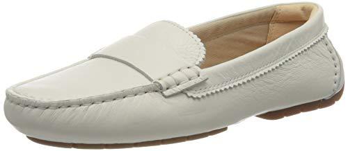 Clarks Damen C Mocc Mokassin, Weiß (White Leather), 42 EU