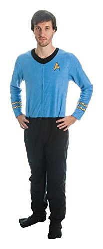 Star Trek Men's Blue Uniform Union Suit (Adult Large)