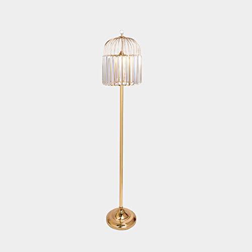 HCYY Lámpara de pie Ajustable Lámpara de pie Cuentas Colgantes de Cristal Lámparas estándar Modernas Sala de Estar romántica Blanca cálida Cuidado de los Ojos Lámpara de Lectura de pie (Dorada)