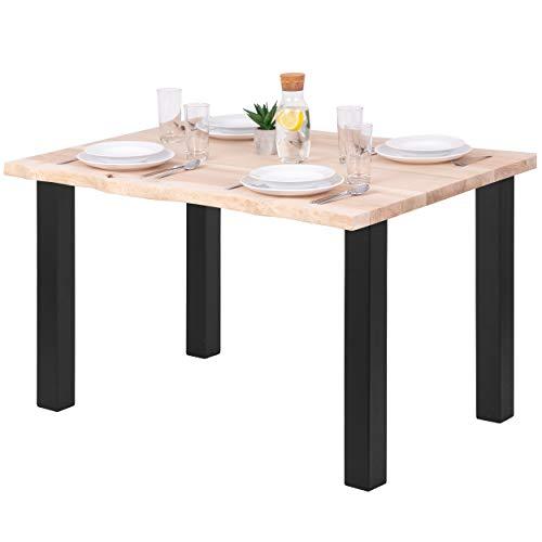 LAMO Manufaktur Tavolo da pranzo scrivania 120x80x76 cm (LxPxA), legno/Classico, frassino...