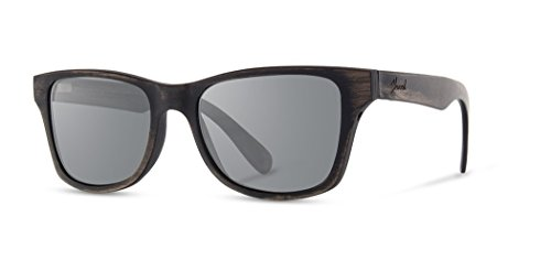 Shwood - Canby 2018+ Square Wood Sunglasses With Metal Core - Distressed Dark Walnut Wood Polarized