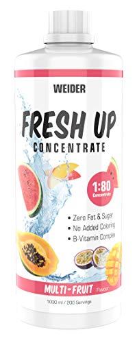 WEIDER Fresh Up Multi-Fruit Getränkekonzentrat , zuckerfrei & ohne Farbstoffe, mit Vitaminen, 1 Liter
