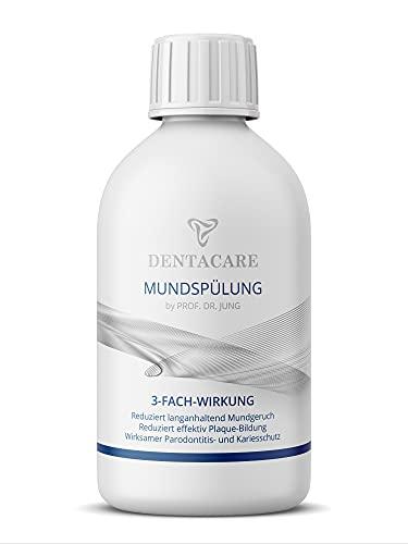 DENTACARE Mundspülung mit 3-fach Wirkung by PROF. DR. JUNG, reduziert langanhaltend Mundgeruch, reduziert effektiv Plaque-Bildung, effektiver Parodontitis- und Kariesschutz (250ml).