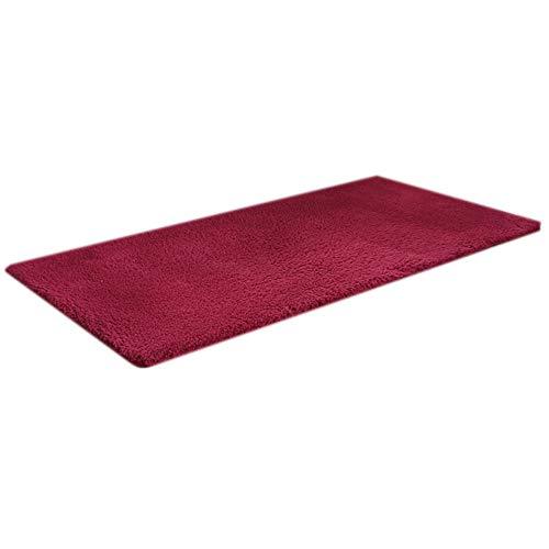 GHGMM Teppich Fußmatten, Haushalt rutschfest weich Teppich, Passend für Schlafzimmer Wohnzimmer Erkerfenster Sofa, anpassbar,red,60 * 120cm