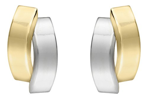Carissima Gold Damen-Ohrstecker 2 Band 375 Bicolor - 2.55.8489