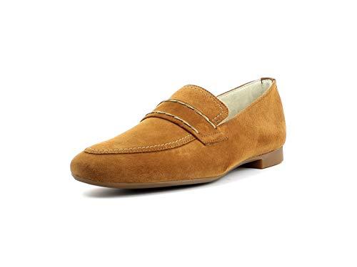 Paul Green Damen SlipperMokassins 2504, Frauen Slipper, Slip-on College Schuh Loafer businessschuh weibliche Lady Ladies Women,Caramel,40.5 EU / 7 UK